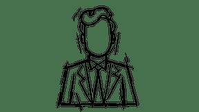 Employees, white-collar worker, man