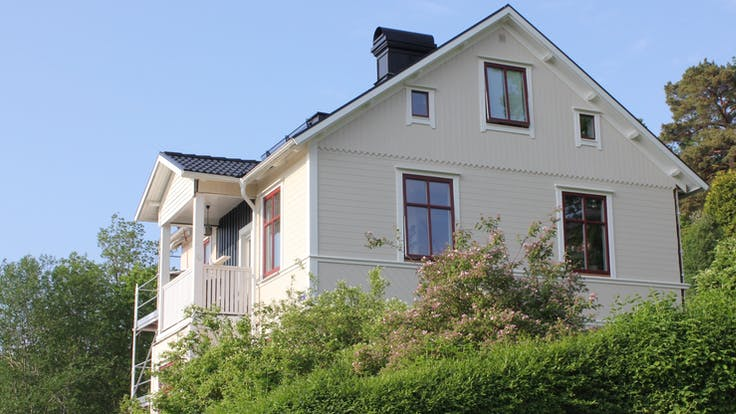 Reference case, article, Sweden, Jönköping, renovation, trähus, wood, facade, Västkustskiva