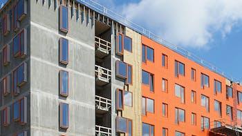 Reference case, Campus living Kolding, facade