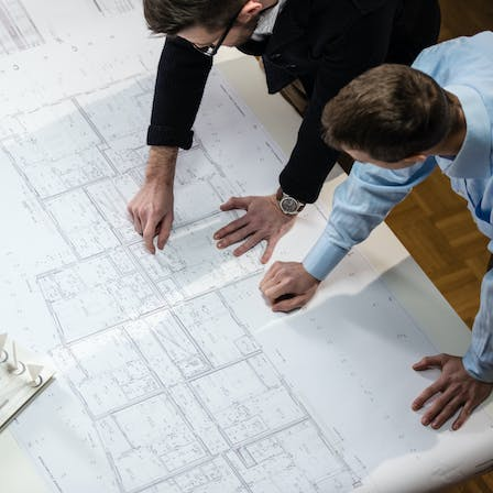 office, workers, architecture, blueprint, map