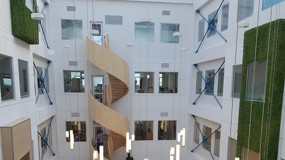 Exterior of Jotron building in Larvik Norway
