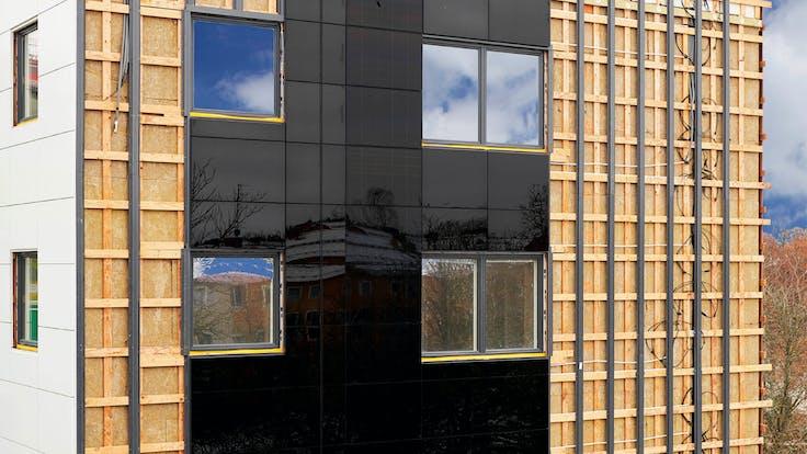 Reference case, Sweden, Linköping, Valla Berså, KL-trä, massive wood, REDAir FLEX, apartments
