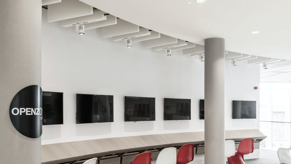 The Word,United Kingdom,South Shields,1.100m²,Steve Dickson,Senior Director at Faulkner Browns Architects,Daniel Reilly at Reilly Ceiling and Drywall,Ben Clarkson,Group Photographer for Bowmer and Kirkland,ROCKFON® Mono® Acoustic