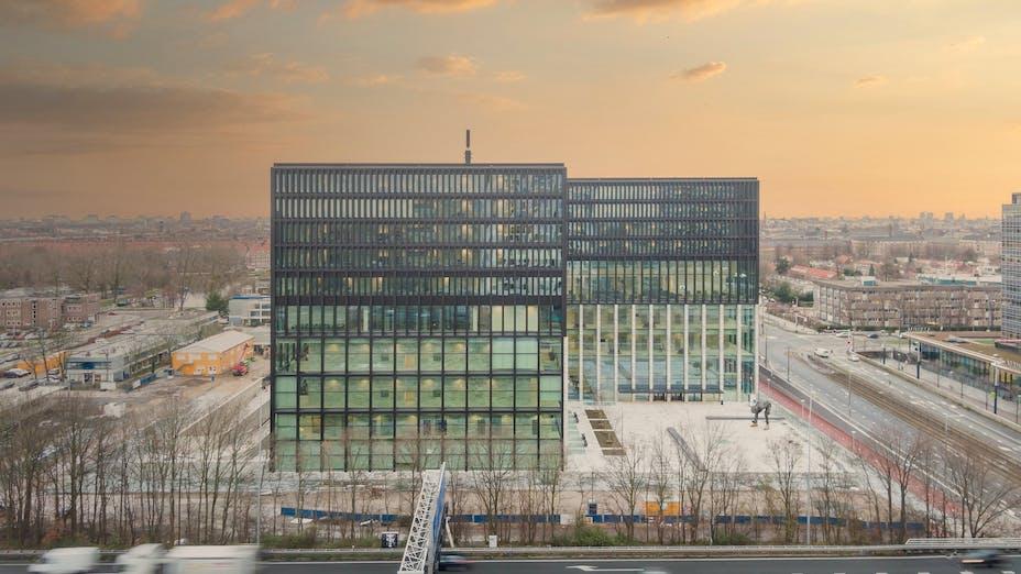 Exterior of Nieuwe Rechtbank in Amsterdam The Netherlands