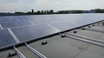 flatroof, flat roof, insulation, megarock, solar panel, solar panels, germany