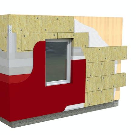 Facade, 03_Fachadas - Aislamiento por el exterior - Fachada SATE_Sistema REDArt soporte madera_wood ETICS