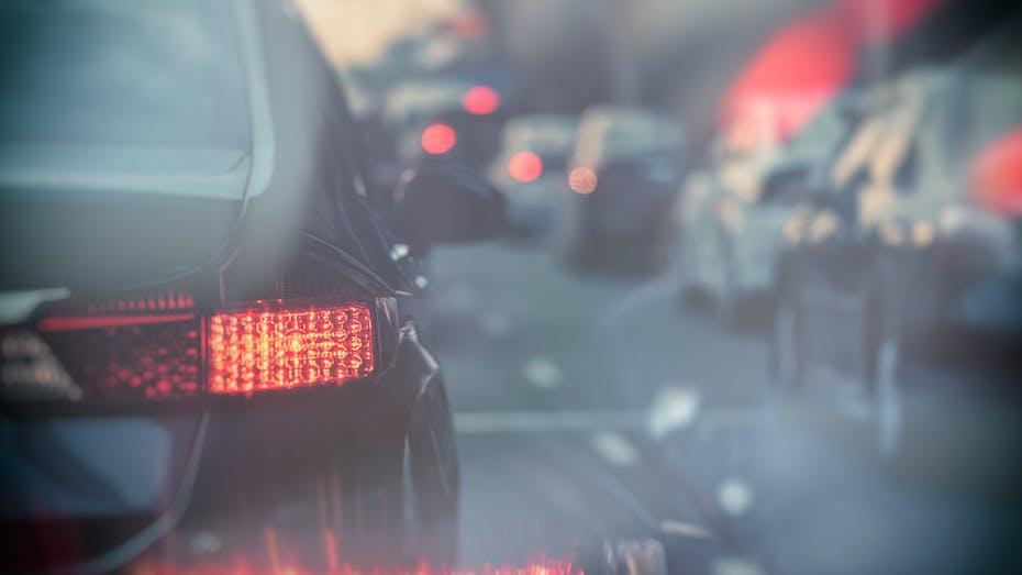 lapinus friction emissions cars traffic jam braking