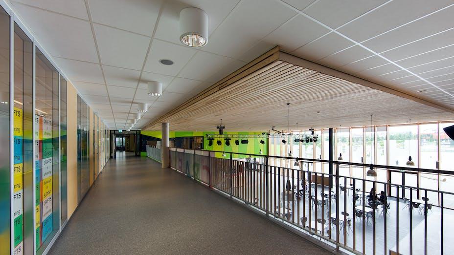 Houtens School, Fibral Colour A_edge, Krios, ROCKFON
