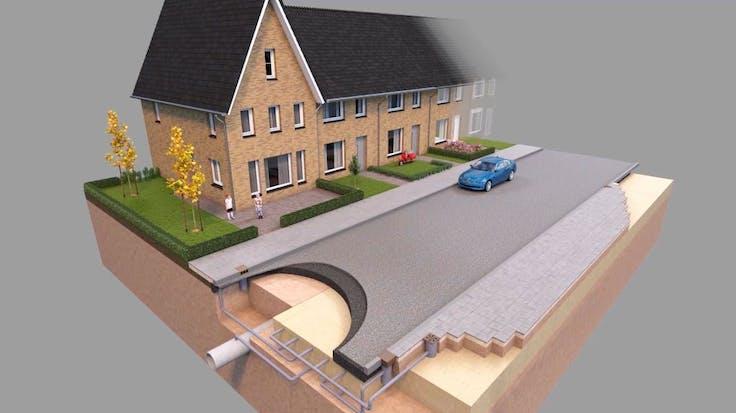 water management, video, 3d model, rockflow, house, street, lapinus