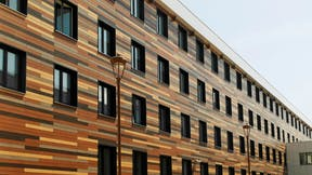 Residential Campus Innopolis in Tatarstan with Rockpanel Woods & Rockpanel Colours facade cladding