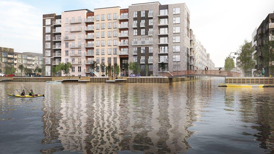 Case Study, Sluseholmen,Techinical Insulation,  fire protection, Conlit Black, Gröning Arkitekter, building,