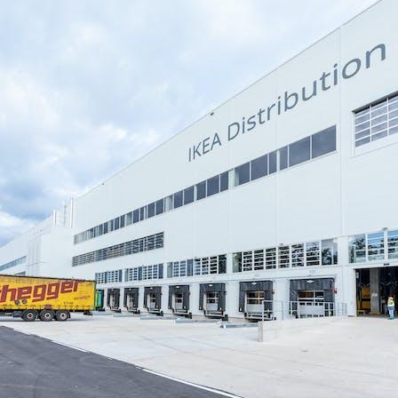 reference, ikea, distribution center, ikea cdc, flat roof, strebersdorf, austria