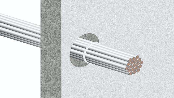 illustration, hvac, conlit bandage, step 1/5, germany