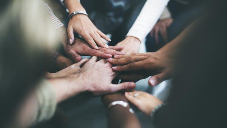 People, Teamwork, Hands,