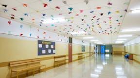 PL, Warsaw, Primary School number 340, wmn ARCHITEKCI Weronika Nowak, Education, Classroom, Rockfon® Koral™ 40 mm, Rockfon® Tropic™, A-edge, 600x600, white, Rockfon® System T24 A/E