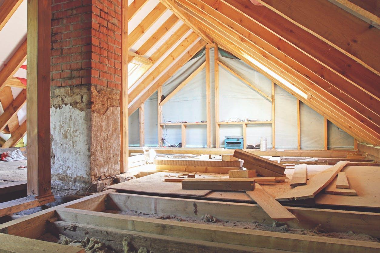 Attic, construction, insulation, wall, interior, residential
