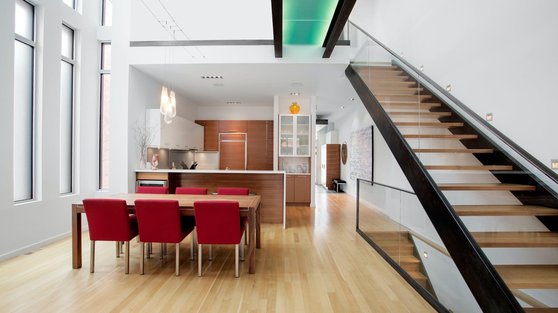 Kitchen, interior, modern, ceiling, home, furnished