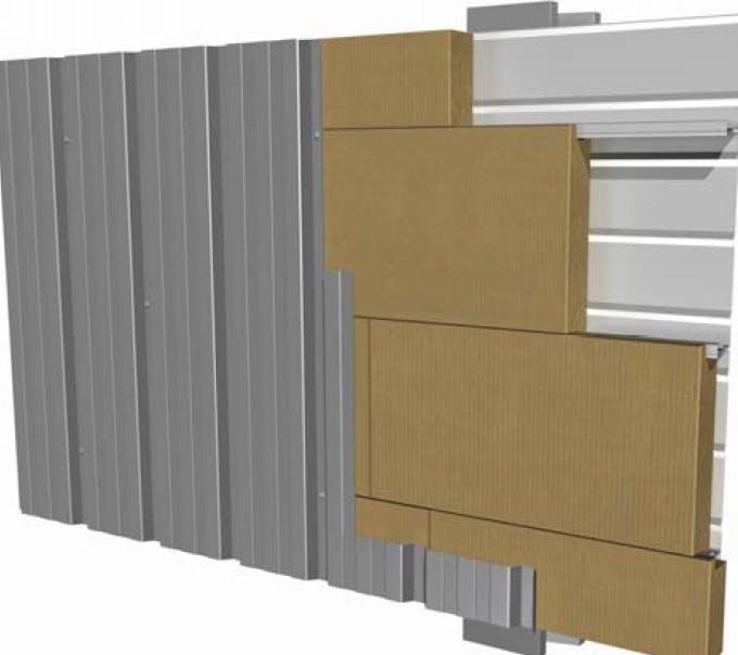 metal cladding, bardage métallique