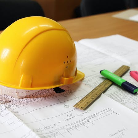 Construction plan and drawings to support new project - building codes and standards for construction.