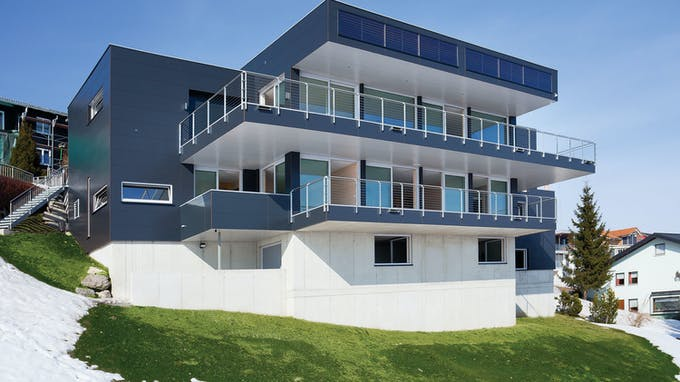 Single Family house with Rockpanel Colours in Sulzberg, Austria