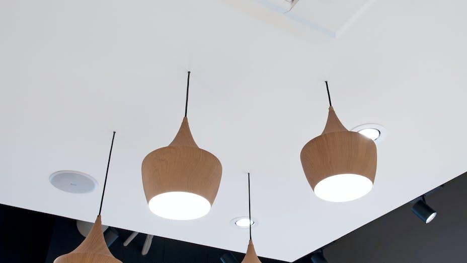 Boutique Vorwerk in Lyon France with Rockfon Mono Acoustic white