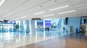 Belarus National Airport, Minsk, Belarus, Oleg V. Sergeyev, Minskproyekt Municipal Unitary Engineering Design Enterprise, ROCKFON Tropic, ROCKFON Artic