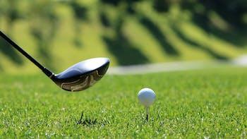 Landscape, golf, green, man