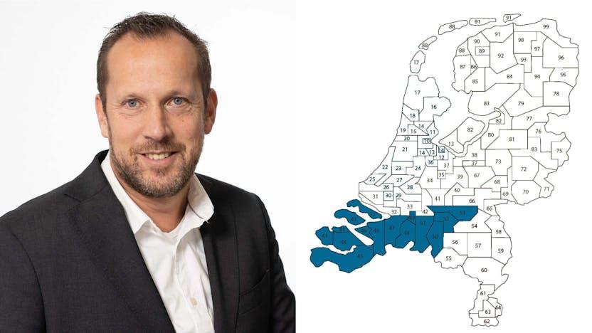 contact person, sales representative, profile and map, Corné van Meer, Corne van Meer , Rockfon, NL