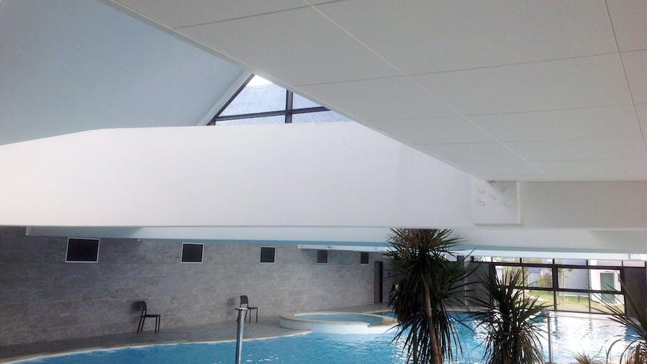 Centre de loisir Arts et Vie Plozevet, France, SONAR X-edge, B-edge, Chicago Metallic T24 Hook D850 ECR class D, 600 x 600, White, Philippe Gauthier, Arts et Vie, UBERAUM & Philippe Gauthier Architect