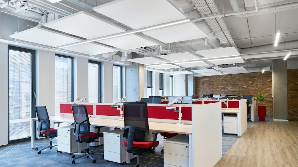 Acoustic ceiling solution: Rockfon Eclipse®, 1160 x 1160