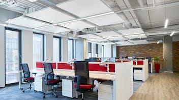 PL, Infor Polska Sp. Z o.o., Wroclaw, The Design Group, Office, Rockfon Eclipse, A edge, 1160x1160, White, Meeting room