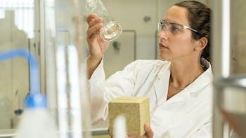 Researcher in laboratory setting