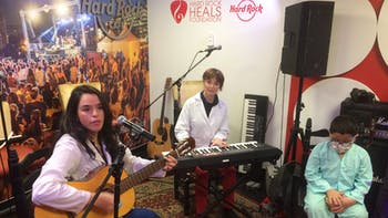 The Hard Rock Café Music Room, funded by Hard Rock Heals with donations from ROCKWOOL Group