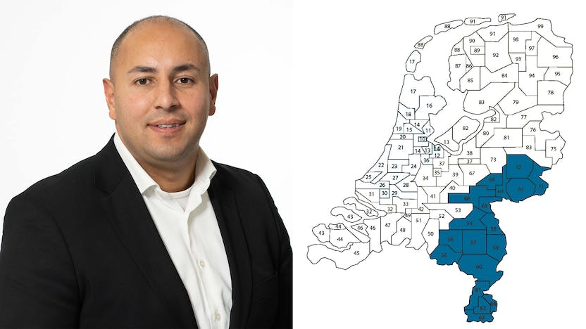 contact person, sales representative, profile and map, Oualid Rouchdi, Rockfon, NL