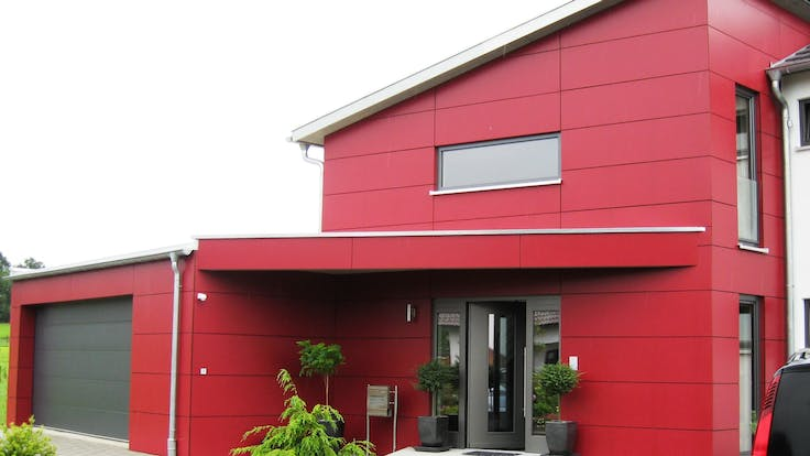 Rockpanel applications along the roofline and other detailing