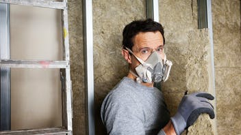 rockwool, workmen, home insulation