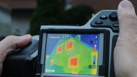 thermo camera, hand holding camera, thermogram on camera, germany