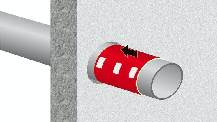illustration, hvac, conlit brandschutzmanschette, germany, steps