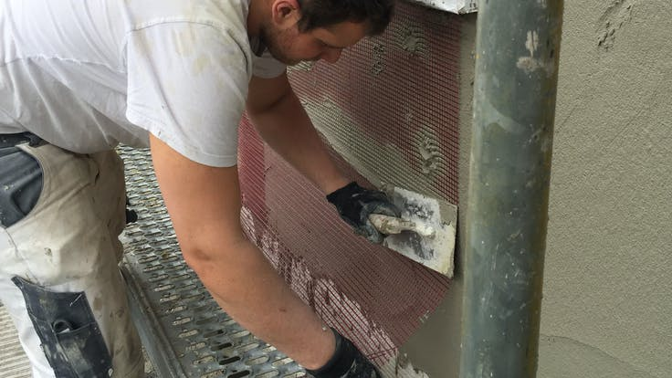 press, single family home, home, house, facade insulation, wall insulation, etics, installation, reference, aachen, germany