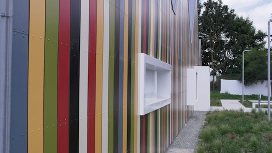 New build of Nursery with Rockpanel Colours in Dury, France