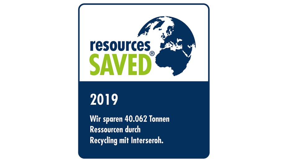 interseroh, resources saved 2019, recycling, germany