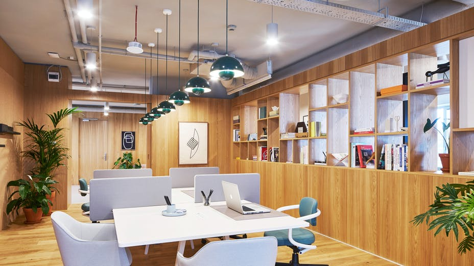 Cellular Office with Rockfon Mono Acoustic in Spaces Platinium co-working office, Warsaw, Poland