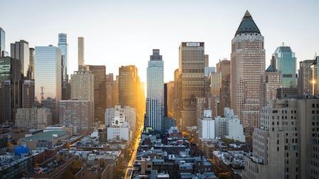 New York, sunrise, city, city scape, urban, buildings,  Annual report 2020