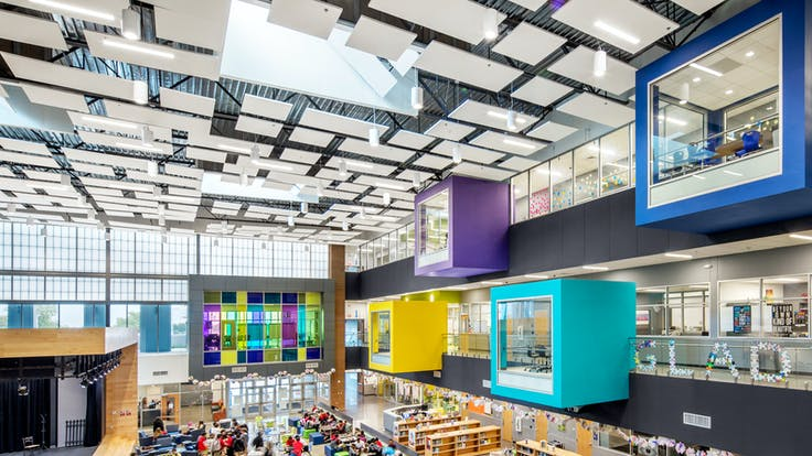NA, Manor New Tech Middle School (MNTMS), education, auditorium, Island, 4x4, 4x8, acoustics