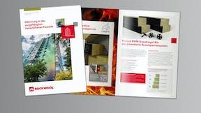 thumb, thumbnail, brochure, Broschüre Dämmung in der vorgehängten hinterlüfteten Fassade, germany