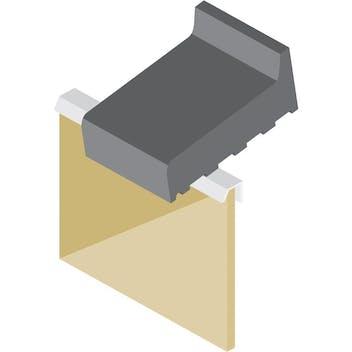 Profil I - Anschlussprofil mit Tropfkante