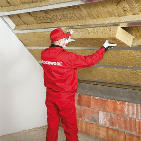 pitched roof, how to insulate, step 4