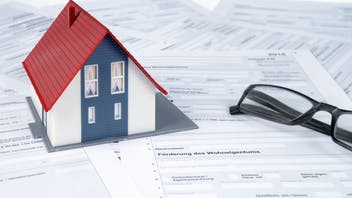 house, calculator, tax return form, funds, state subsidy, germany