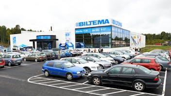 Reference case, Sweden, Borås, Biltema, shopping center, TOPROCK, roof