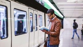 RockWorld imagery, Modern living, train, reading, infrastructure,